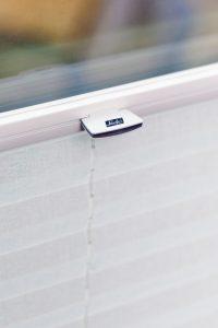 Luxaflex LiteRise® blind in white.