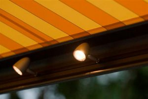 Awning spotlights can enhance your outdoor experience by letting you stay outside for longer.