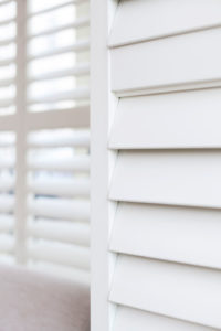 White Shutter slats closed