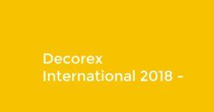 Decorex International title on yellow background.