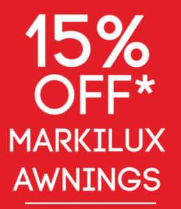 Markilux awning sale red promo cover.