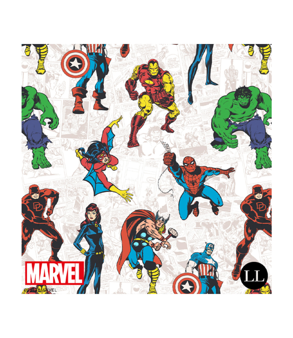 Marvel characters fabric design