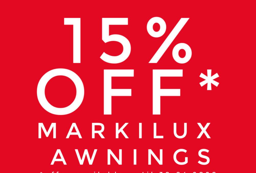 Markilux Awning Sale Bath – 15% off Awnings