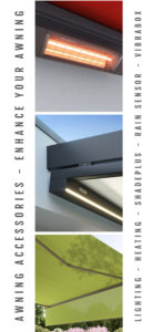 Awning accessory options banner