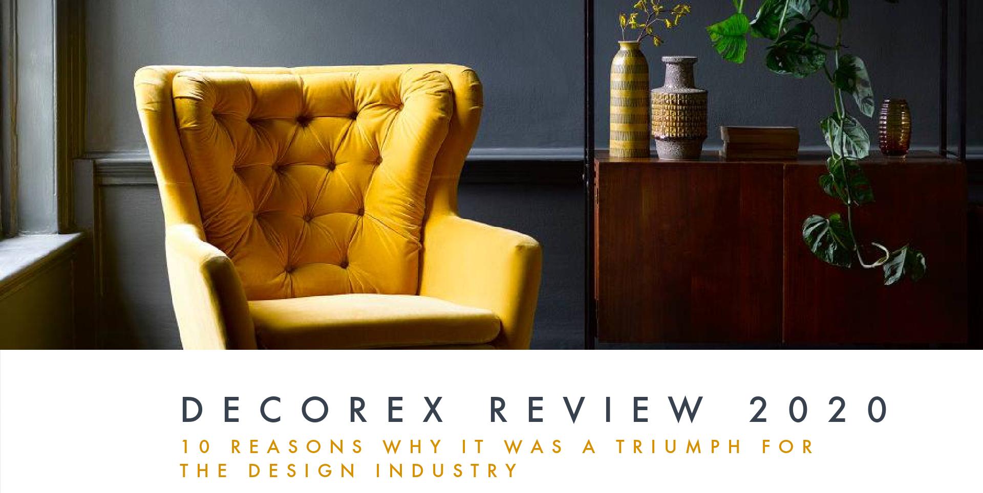 Decorex design show upholstery and interior design promo shots