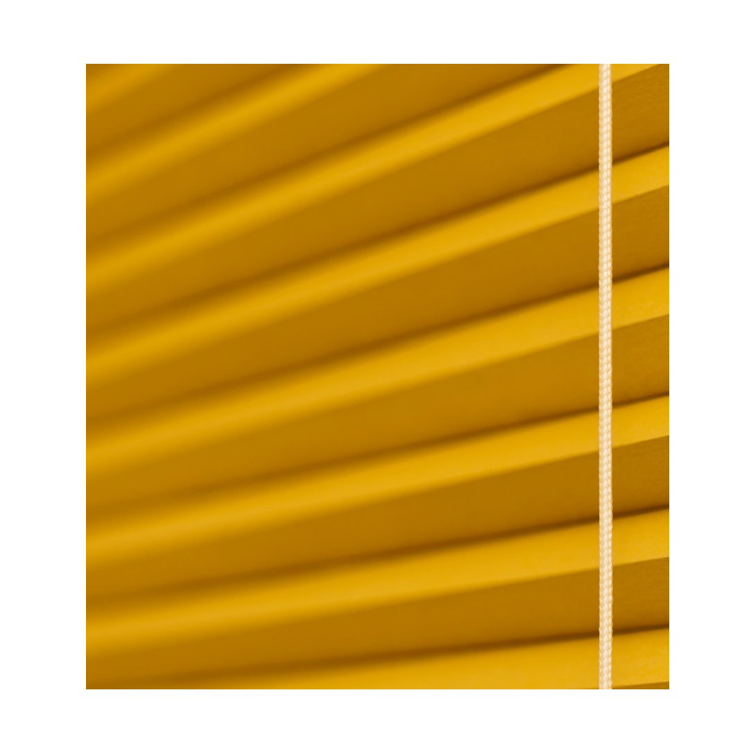 Duette blind with yellow hue as part of colourful home design
