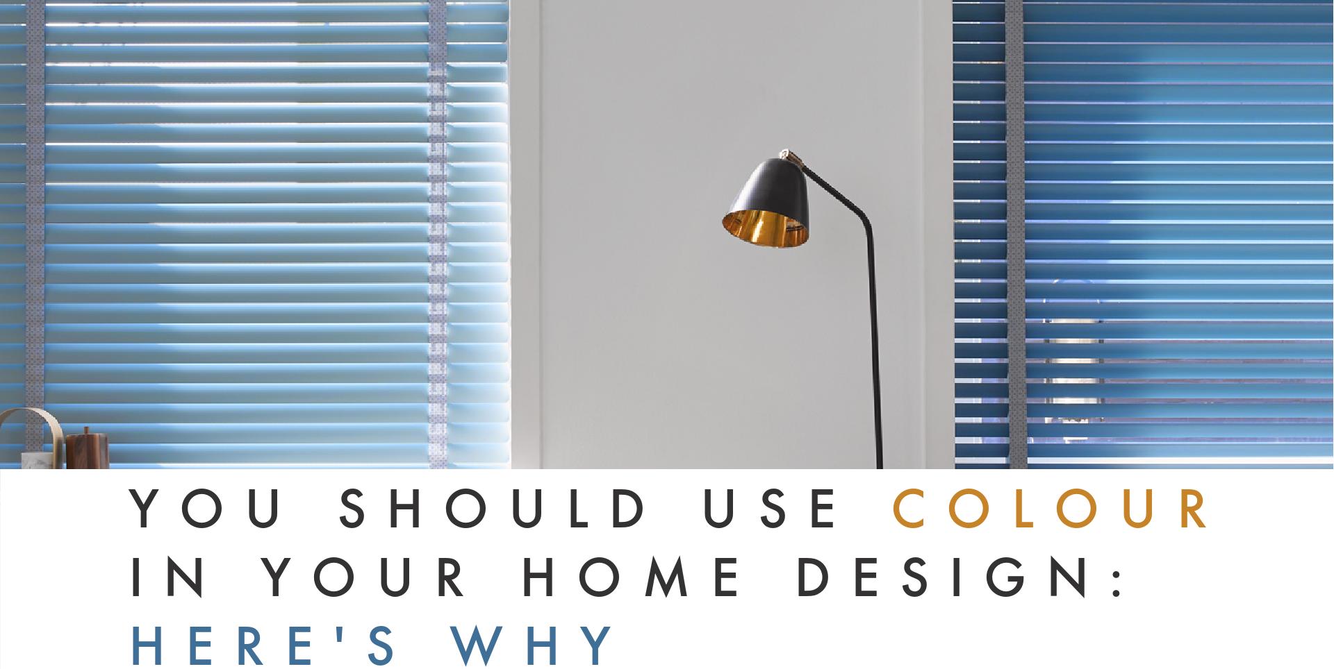 Blue blinds in Home Design