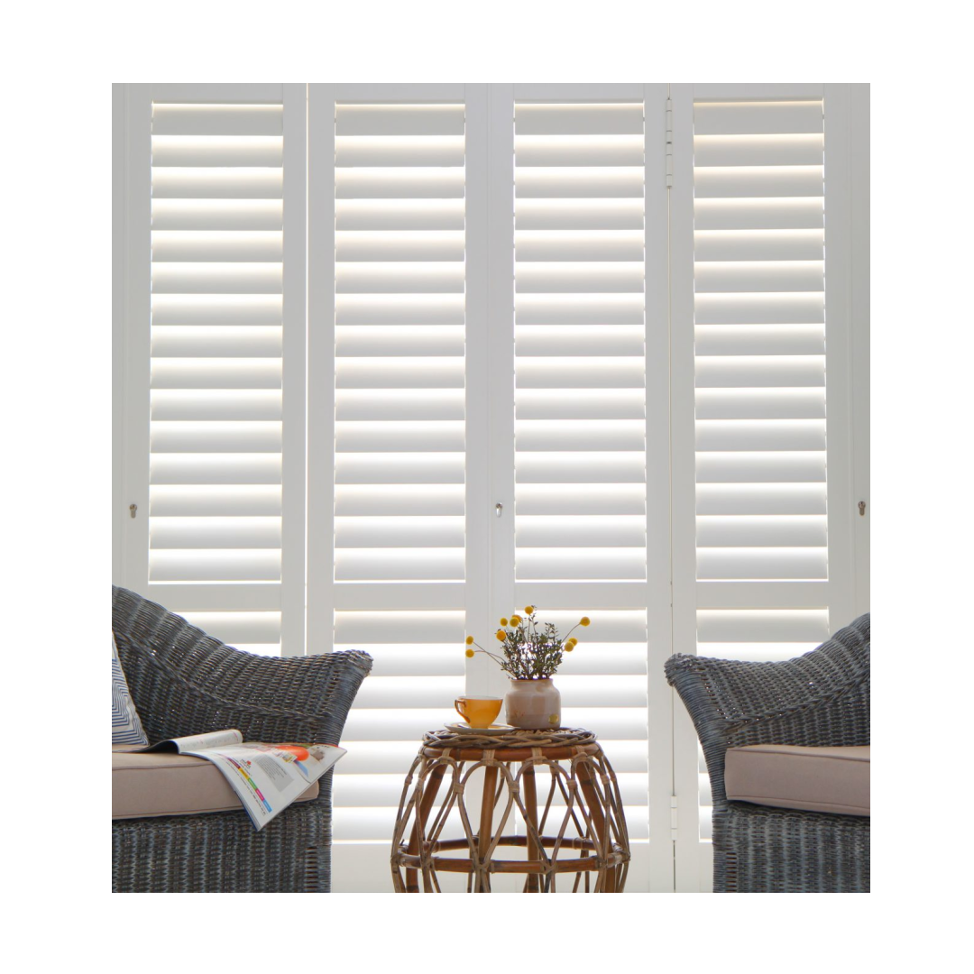 Portchester shutters in living room window.