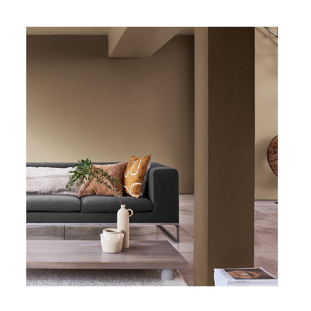 Brave Ground colour contemporary living room space.