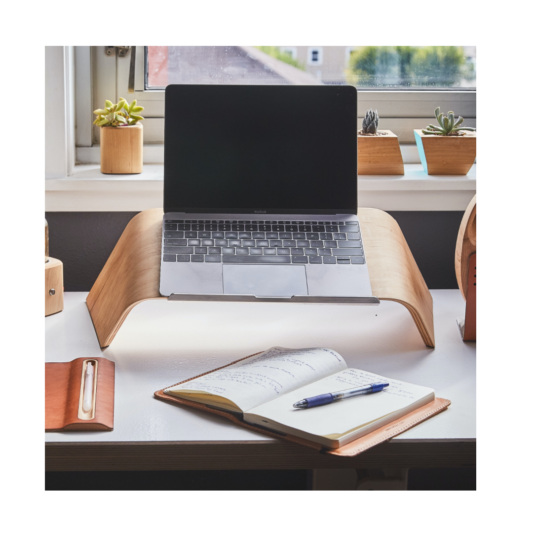 Home office laptop and stand