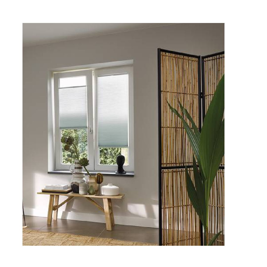 Ombre blinds with neutral home design