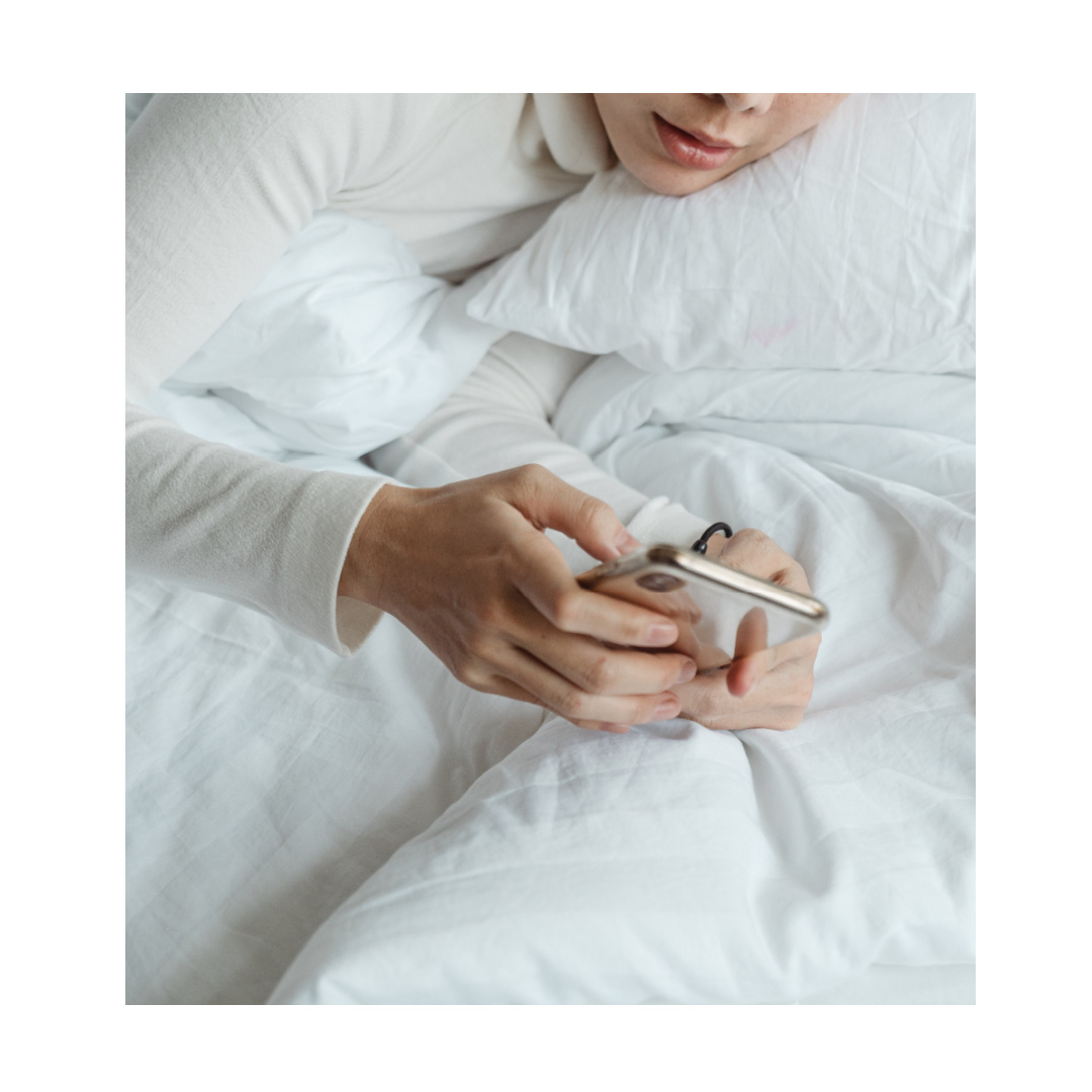 Using mobile in bed
