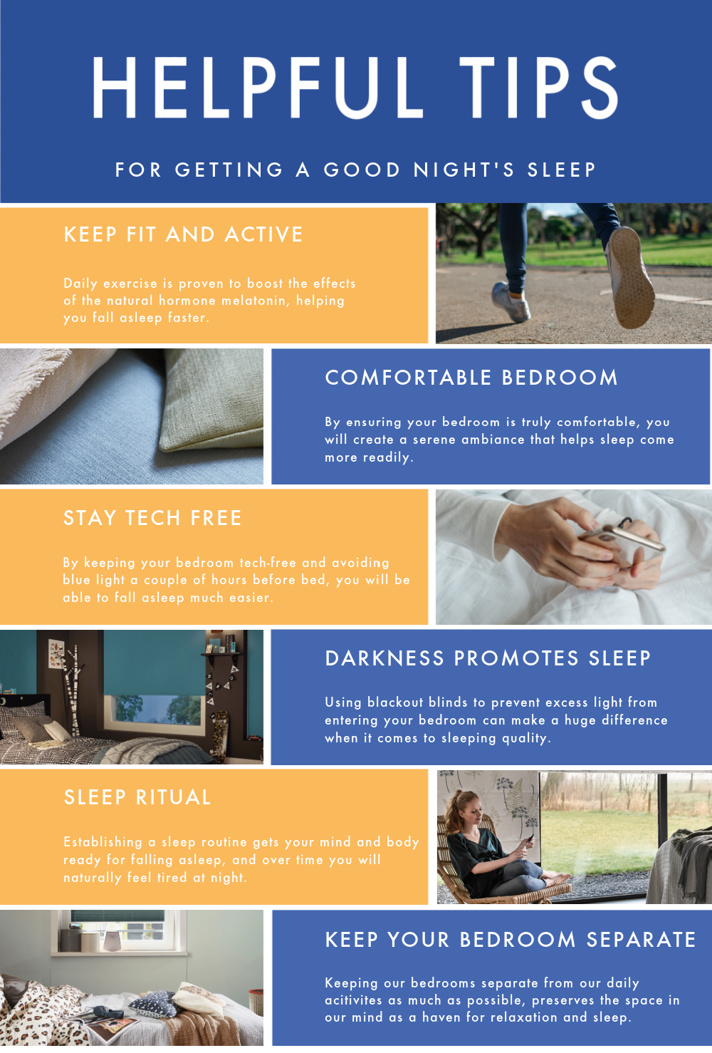 Sleeping with interior design tips infographic