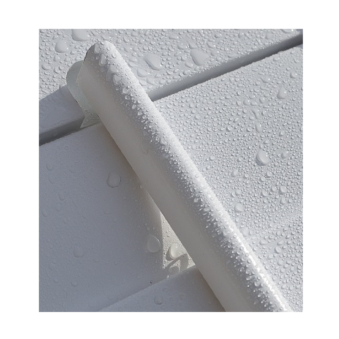 Waterproof shutter panel with condensation