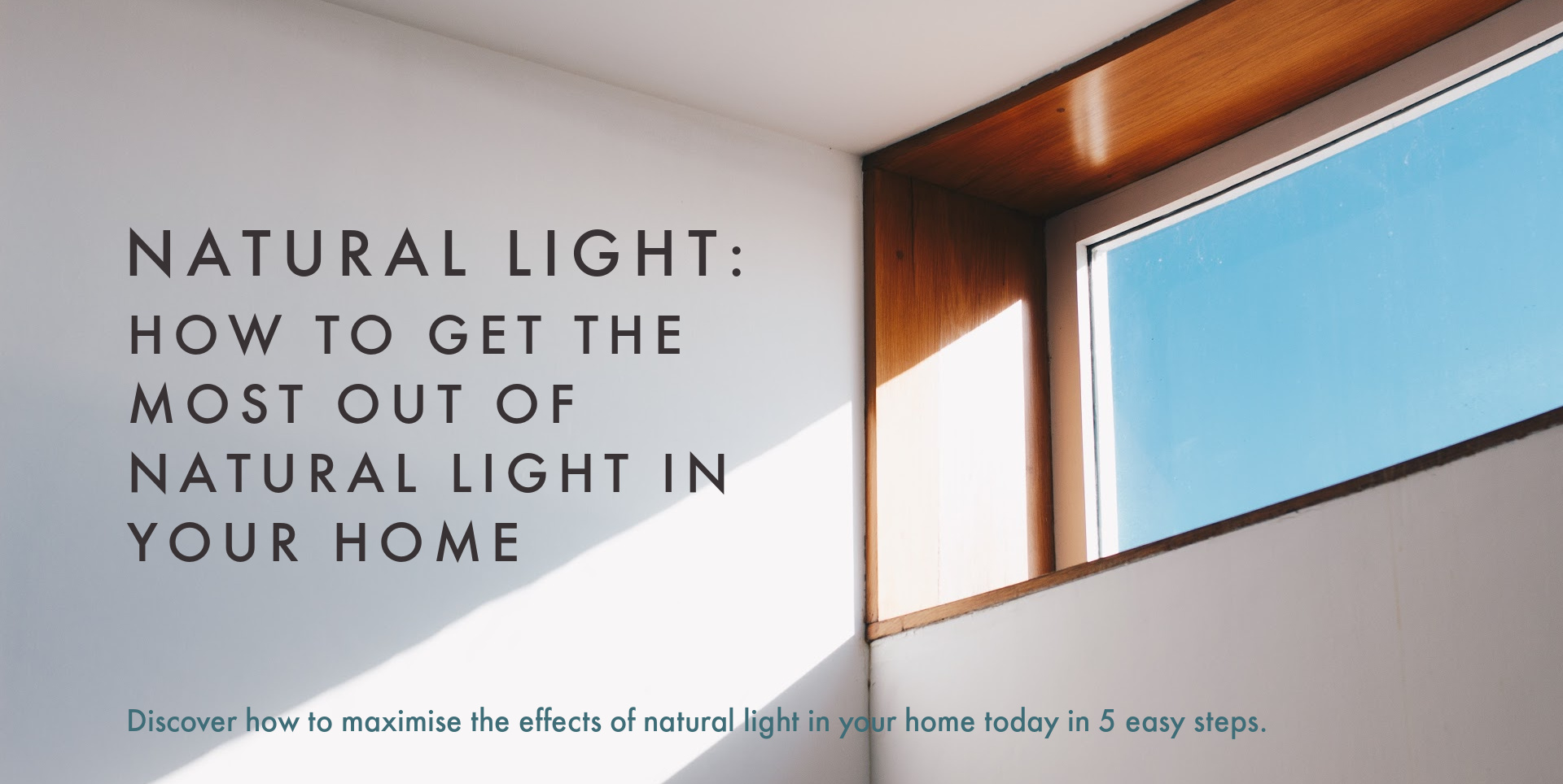 Natural light coming in through high window