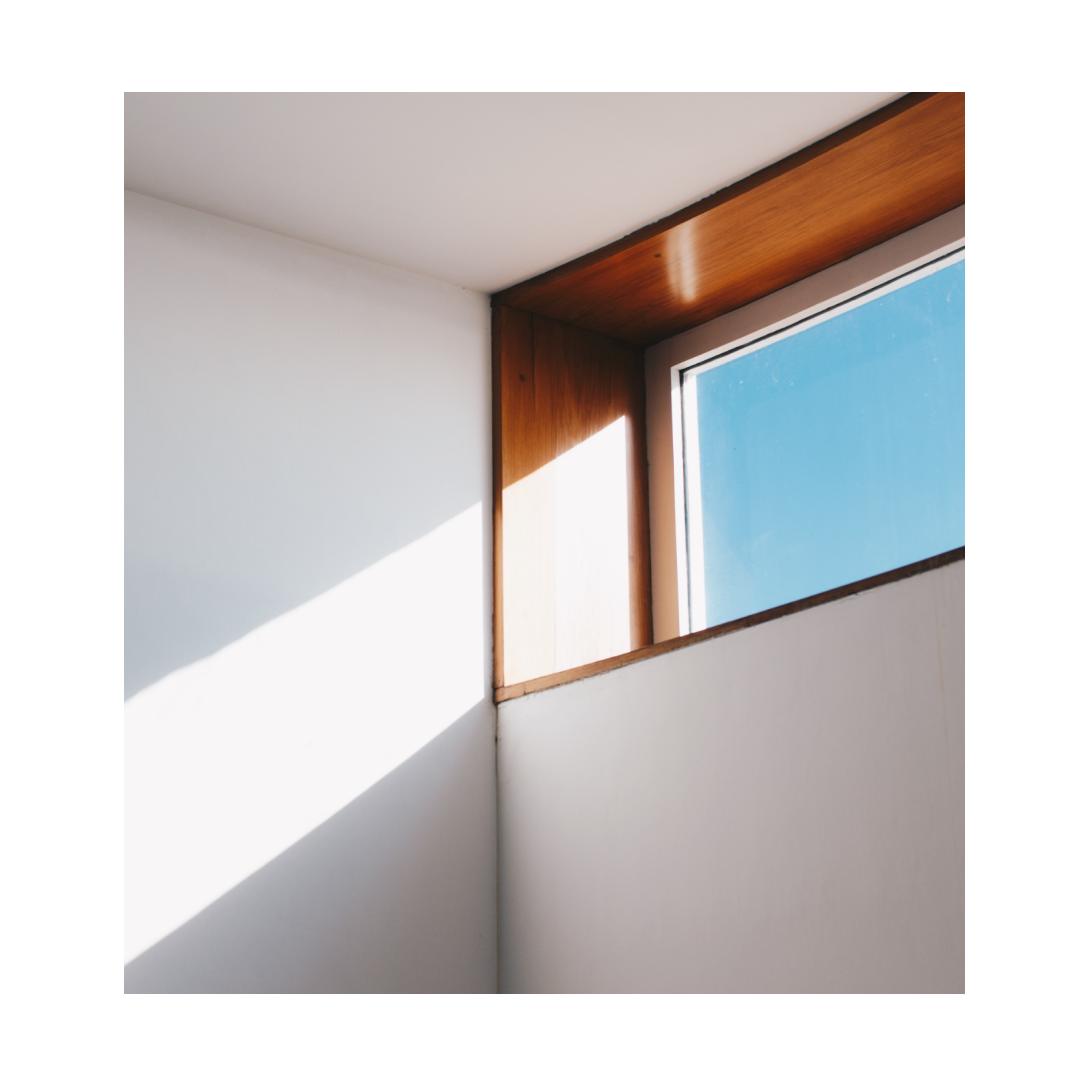 Natural light entering through high window