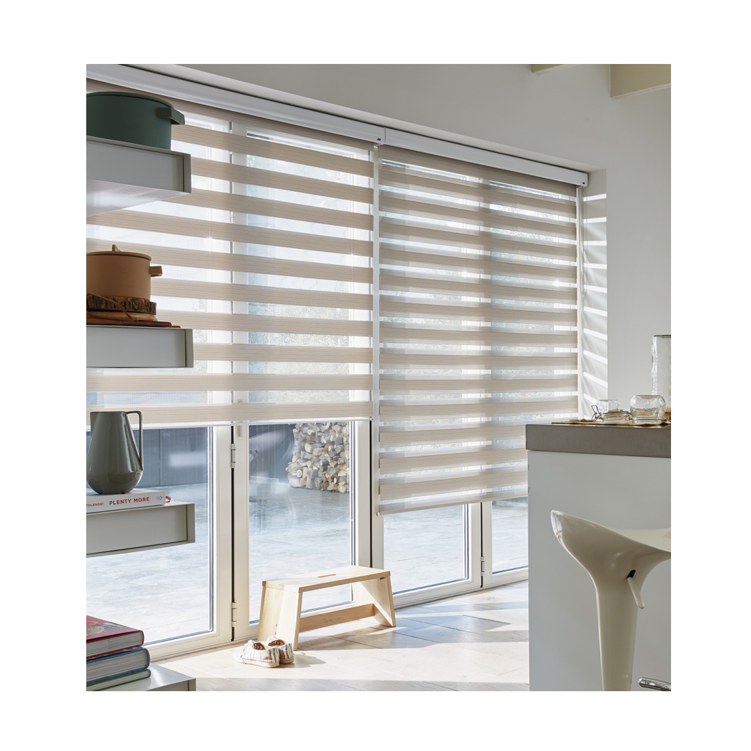 Twist roller blind in contemporary kitchen setting