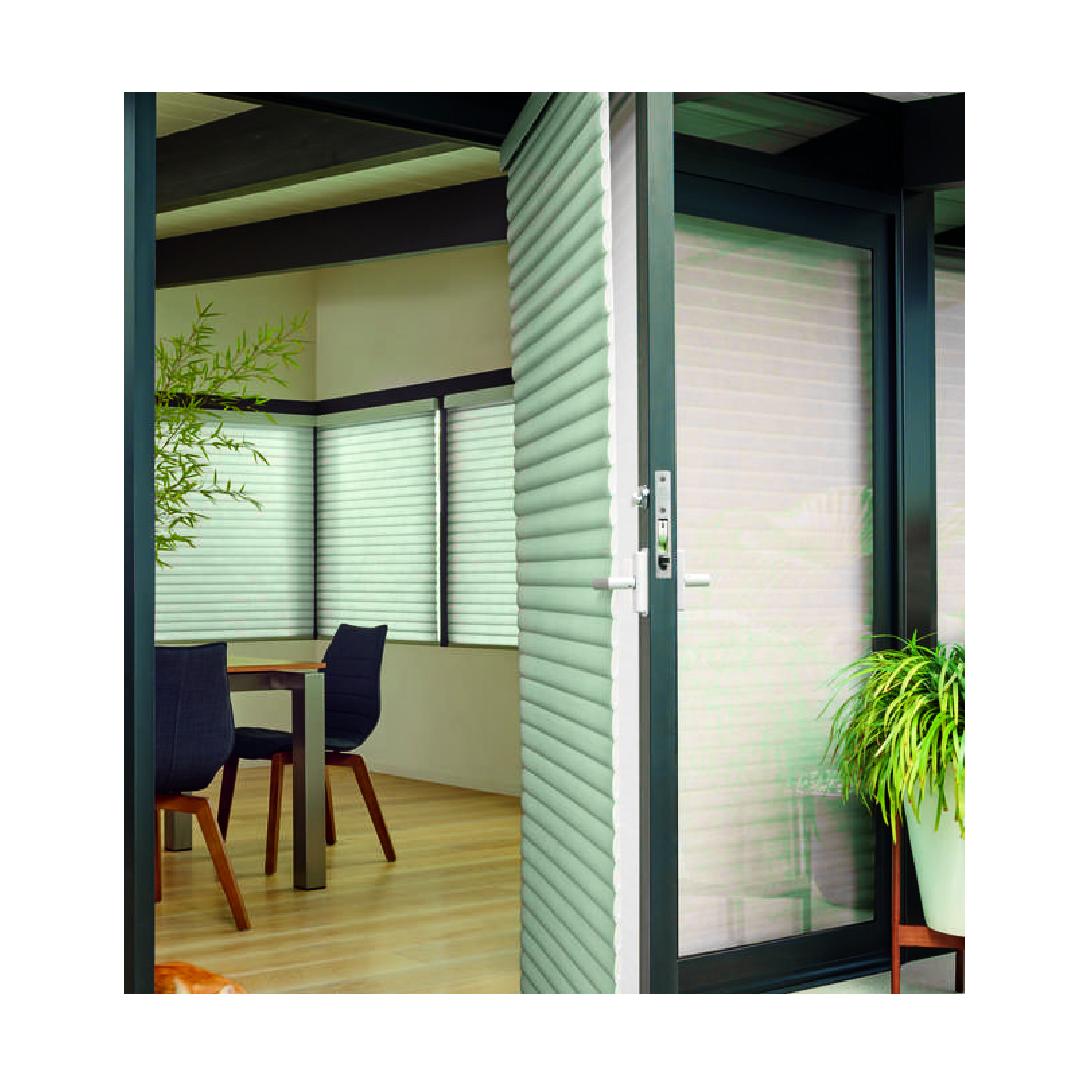 Sonnette shades on doors