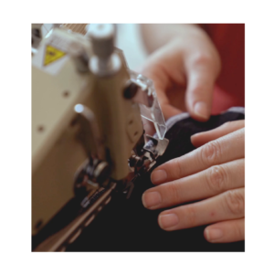 Sewing curtains using sewing machine