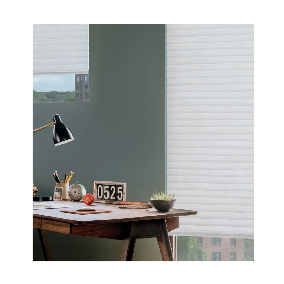 Sonnette blind in contemporary office space windows