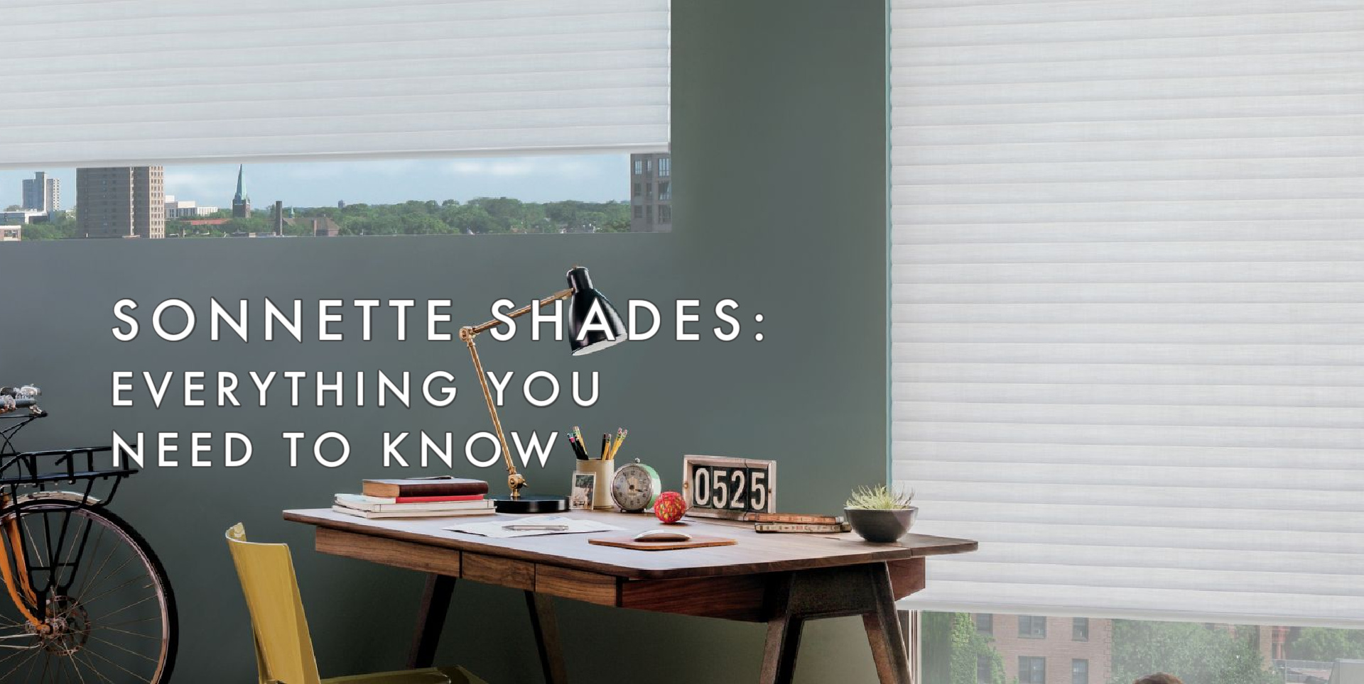 Sonnette Shades in contemporary office windows